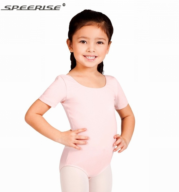 a66b41dd3 Girls Cap Short Sleeve Leotard Gym Ballet Dance Spandex Nylon Lycra ...