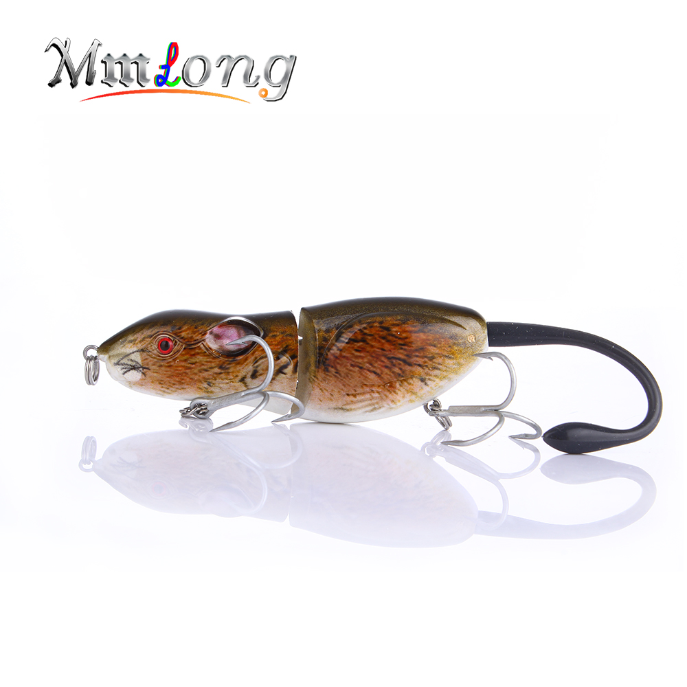 Mmlong 3.5 New Mouse Fishing Lure High Quality Artificial Crankbait RAT2 20.6g Hard Fishing Rat Bait Tackle Wobbler Lures стоимость