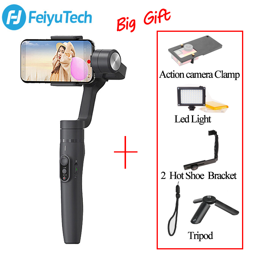 FeiyuTech Feiyu Vimble 2 manija estabilizador 3 eje rod steadicam para cámara de acción Smartphone VS Zhiyun Smooth Q