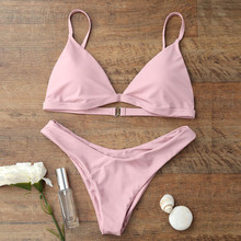 Women Bikini Set Triangle Push-Up Padded Bra 5 colour