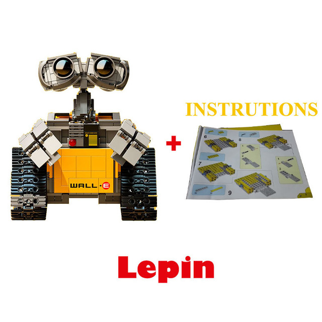 687pcs 2016 New Lepin Idea Robot WALL E Building Blocks Bricks Set Model Building Kits Minifigures Compatible Model toys 16003