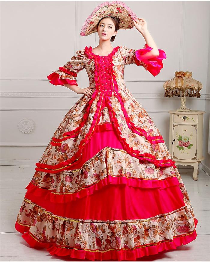 רויאל קורט מימי הביניים השמלה המלכה - תחפושות