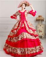 Royal Court Medieval Dress Queen Renaissance Ball Gown Victorian Evening Dress Halloween Formal Event Cosplay Costume red