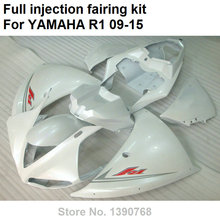 Fit for Yamaha injection molding fairings YZF R1 09 10 11 12 13 14 15 white fairing kit YZFR1 2009-2014 2015 BD73