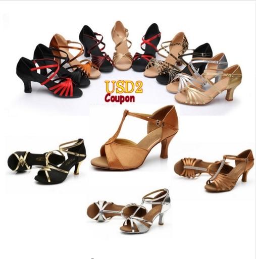Hot Sell Brand New Latin Dance Shoes High Heel Ladies/Girls/Women/Ballroom Salsa Tango Shoes/7cm/Wholesale