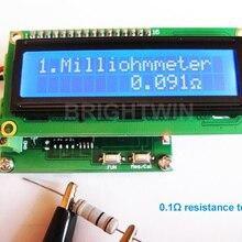 Высокая точность Миллиомметр от 0 до 120 Ом низкое сопротивление тестер измеритель емкости Модуль тестирования