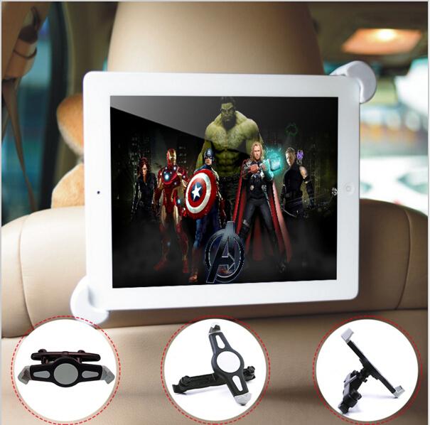 7 - 11 polegada Tablet PC Universal carro de volta titular assento 360 grau ângulo de rotação ajustável suporte suporte para Tablet PC