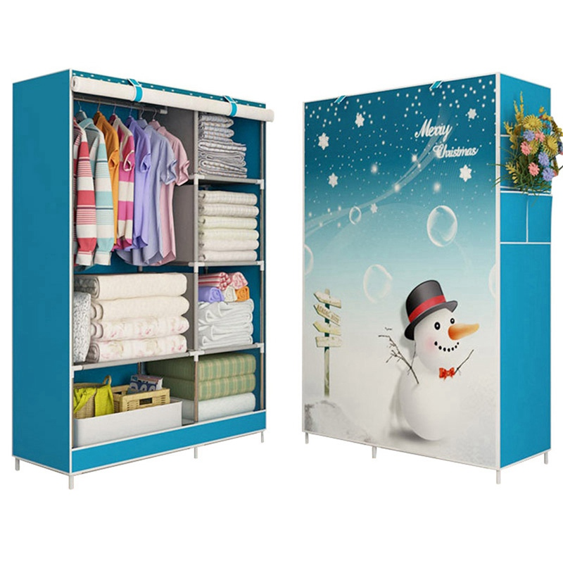 Hot Sale DIY Wardrobe Closet Clothes Cabinet Large Capacity Wardrobe Closet Non-Woven Simple Folding Cloth Ward Storage Cabinet simple fashion moistureproof sealing thick oxford fabric cloth wardrobe rustproof steel pipe closet 133d