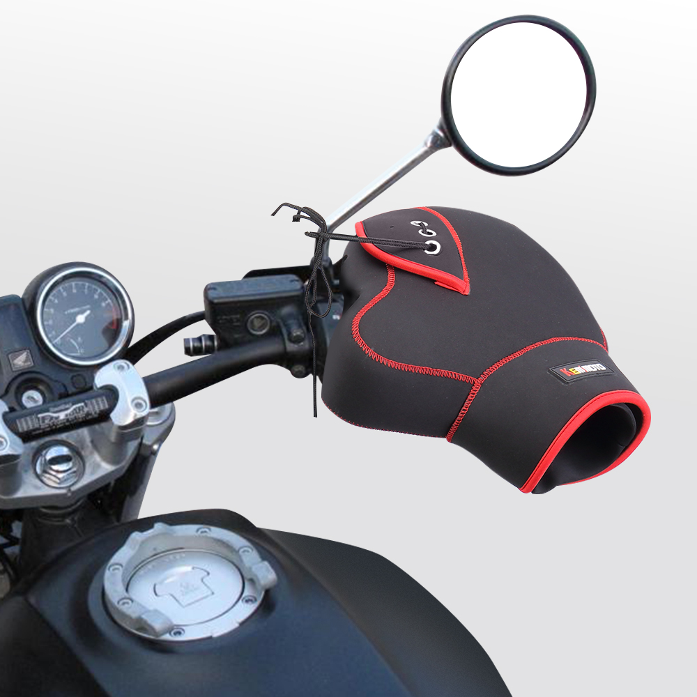 Image 2 - KEMiMOTO Motorcycle Gloves handlebar gloves Scooter Hand Bar Winter Gloves ATV Fur Mitts Motorbike Quad Bike Waterproof-in Gloves from Automobiles & Motorcycles