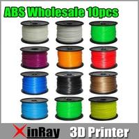Groothandel 10 kg/partij 1.75mm 3mm ABS Filament met spool Voor 3D Printer 10 Kleuren 3 d Print Freesipping via Express 3DA REPRAP