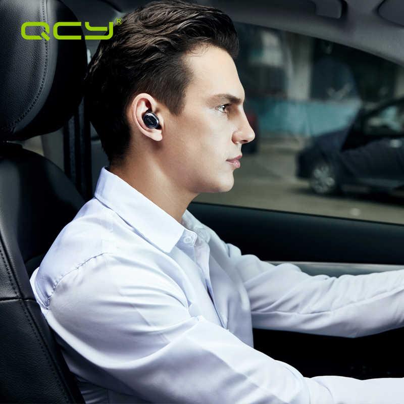 QCY Q29 TWS ビジネス Bluetooth イヤホンワイヤレス 3D ステレオヘッドフォンヘッドセットとパワー · バンクマイクハンズフリー通話