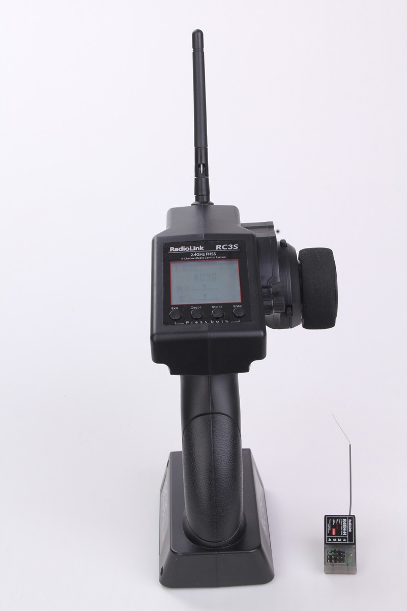 RC3S 4CH 2 4G Digital Radio Control System Gun Transmitter R4EH Receiver LCD Programable for font
