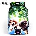 Nueva marca bolsos de escuela para niños zoo lindo bulldog francés escuela del morral encantador perro mochila mochila escolar infantil saco un dos