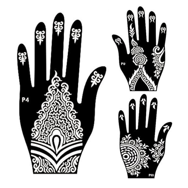 10 Paar Mehndi Henna Links Rechts Hand Tattoo Schablone, Indische ...