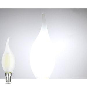 Image 5 - JCKing Dimmbare 2W 4W 6W Led Kerze E12 E14 110V 220V Vintage Retro Dimmen Matt glühlampen Lampe Für Kronleuchter Beleuchtung