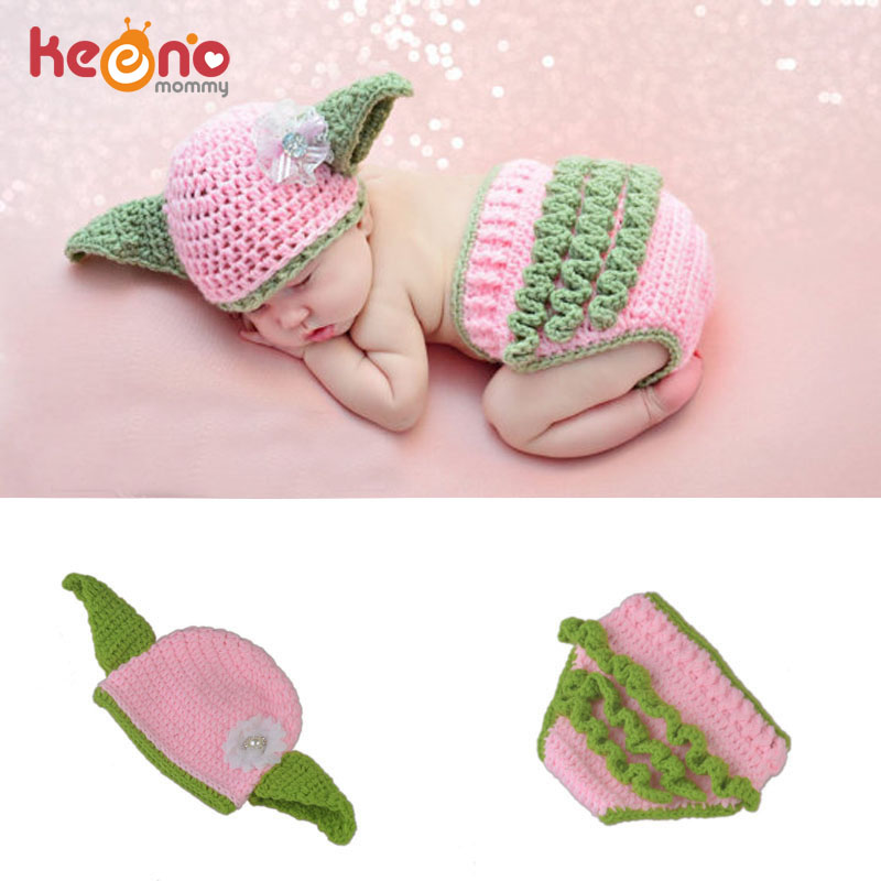 Keenomommy Star Wars Inspired Pink Yoda Crochet Hat And Diaper Cover