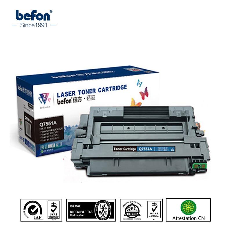 befon Q7551A q7551a 7551a 51a 7551 Toner Cartridges Compatible for HP LaserJet 3005 P3005 P3005d P3005N m3027 m3035 lcl 51a 51x q7551a q7551x 13000 pages 1 pack black toner cartridge compatible for hp laserjet p3005 p3005d p3005n p3005dn