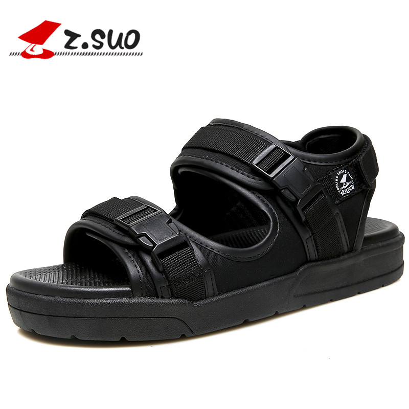 Z.suo Brand Fashion Men Beach Sandals, High Quality Summer Men Sandals Men Casual Shoes Non-slip Rubber Soles Beach Shoe