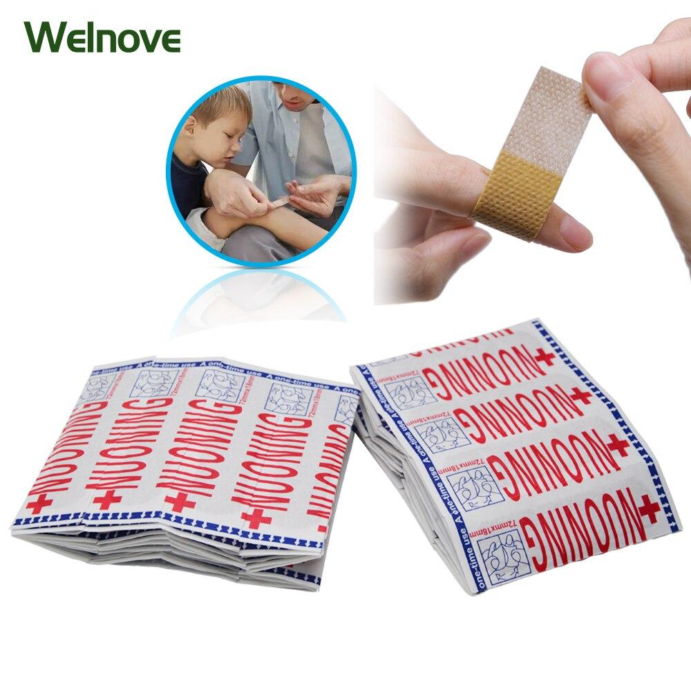 100 Pcs Band Aid Wundauflagen Sterile Hämostase Aufkleber Erste Hilfe Bandage Ferse Kissen Heftpflaster Zufällige Farbe Z37001