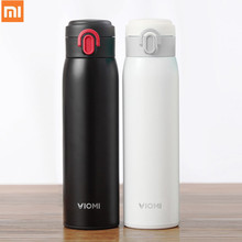 лучшая цена Xiaomi mi Mijia VIOMI Stainless Steel Vacuum 24 Hours Flask Water Smart Bottle Thermos Single Hand ON