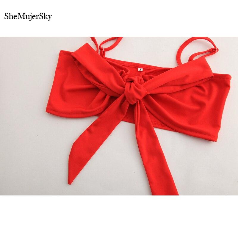 SheMujerSky Tracksuit Women Red Two Piece Set Cropped Camins Tops Conjunto Feminino Saia E Blusa Mini Skirt 2018