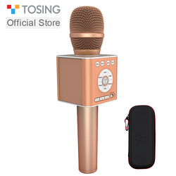 TOSING Q12 New Wireless Bluetooth Karaoke Handheld Microphone USB KTV Player Bluetooth Mic Speaker Record Music Microphones