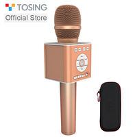 TOSING Q12 New Wireless Bluetooth Karaoke Handheld Microphone USB KTV Player Bluetooth Mic Speaker Record Music Microphones