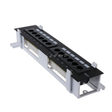 Сетевой набор инструментов 12 портов CAT6 патч-панель RJ45 сетевой настенный кронштейн