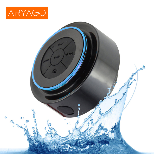 Aryago мини Водонепроницаемый Bluetooth Динамик для iPhone Samsung Телефон ноутбука душ Динамик с FM радио Hands-Free присоски
