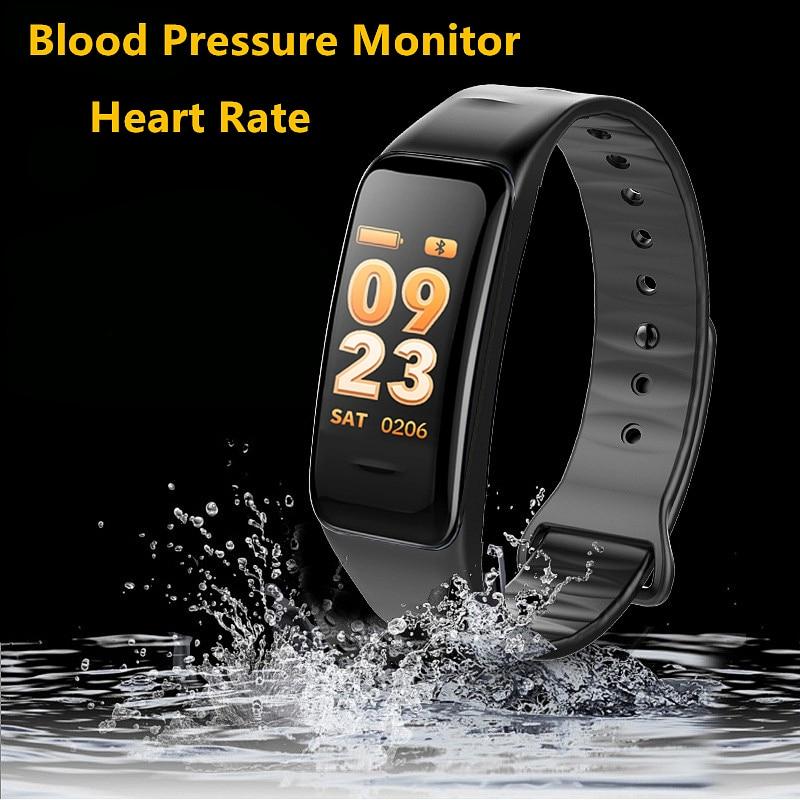 Bluetooth Smart Wristband Band Blood Pressure & Heart Rate Monitor Waterproof Fitness Bracelet Sleep Tracker for Sports Health
