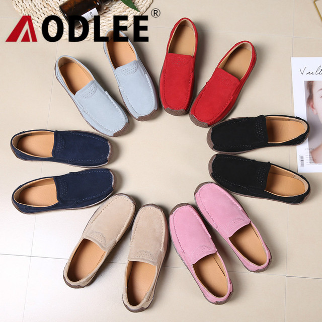 AODLEE Plus Size 35-42 Fashion Leather Derby Shoes Woman flat Platform Shoes Women Slip on Oxford Shoes for Women Ladies Shoes