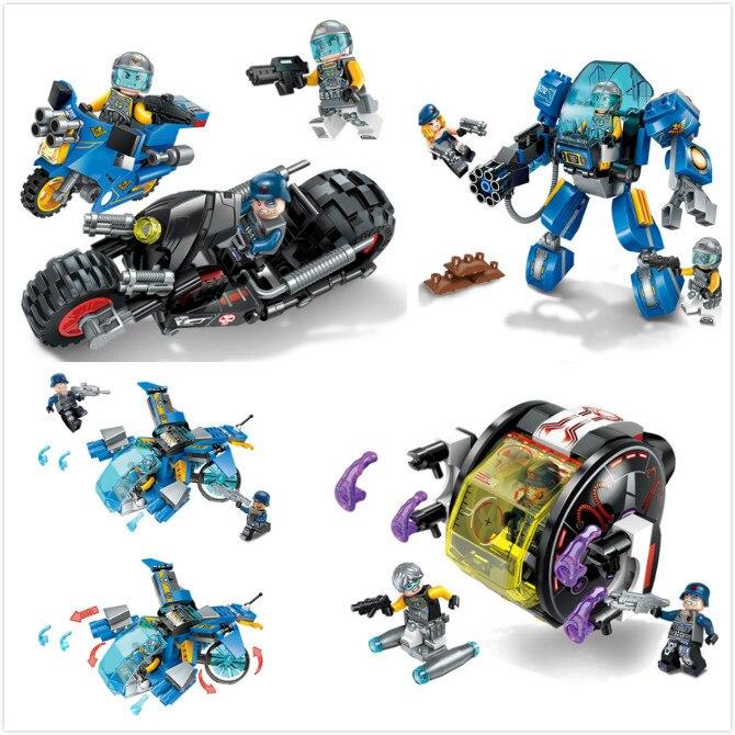 Building Blocks Compatible with Lego Enlighten E2701-2704 470P Models Building Kits Blocks Toys Hobby Hobbies For Chlidren