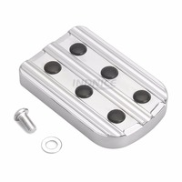 Motorcycle Parts CNC Brake Pedal Pad Cover For Harley Touring FLTR FLHR FLHT Softail Brake Pedal