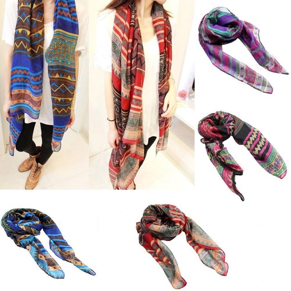 Nueva Moda Bohemia Bufanda 4 Colores Thin silenciador chal pashmina ...