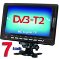 Free Shipping Televisions 7inch TFT LCD Color DVB-T2 Portable TV With Wide View Angle, Support SD/MMC Card, USB Flash Disk