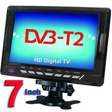 Envío Gratis los Televisores de 7 pulgadas TFT LCD a Color de DVB-T2 TV Portátil Con Ángulo de Visión Amplio, soporte de TARJETAS SD/Mmc, USB Flash Disk