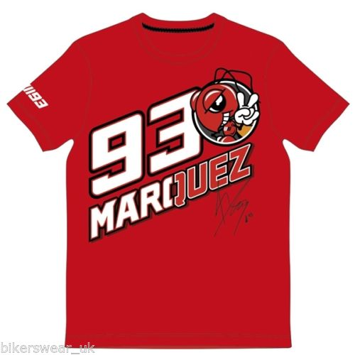 NEW 2018 Moto GP Racing Marc Marquez 93 Signature T-shirt Motorcycle Motocross Sports MX ATV Ant Racewear