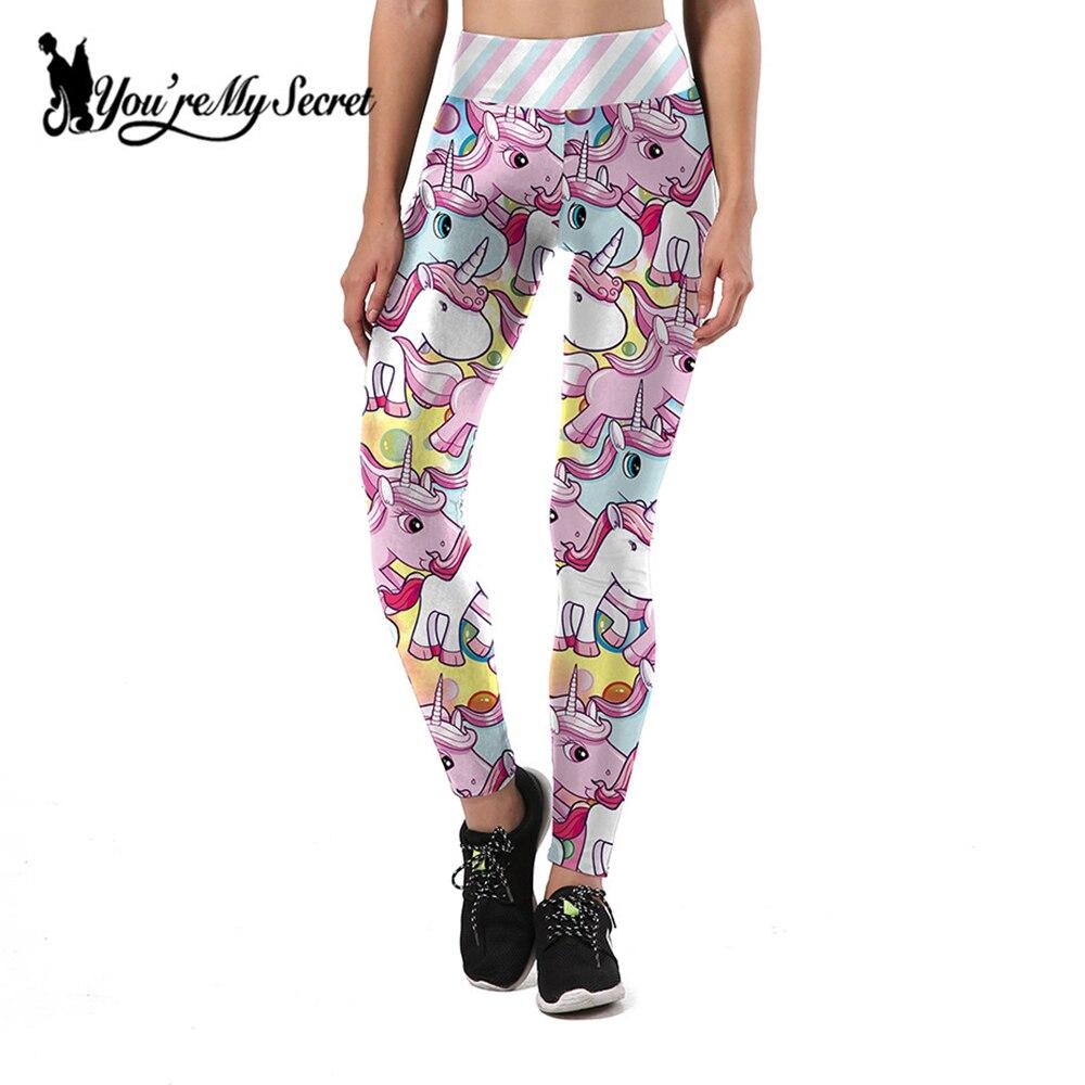 [You're My Secret]2019 Fashion Women   Leggings   3D Printed Trousers Unicorn   Legging   Slim High Waist Legins Women Pants