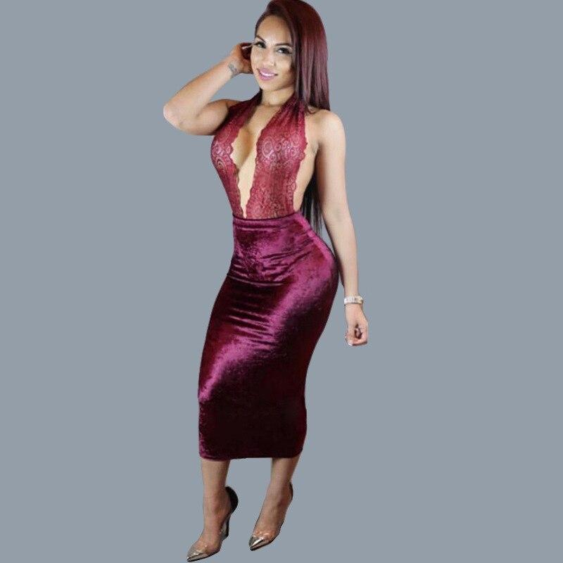 4d9884778 2017 Nova Mulheres Estilingue Verão Vestido Maxi Longo Bodycon Vestido Sexy  Clube Vestidos de Festa Vestido de Renda Vermelho Vestidos Robe