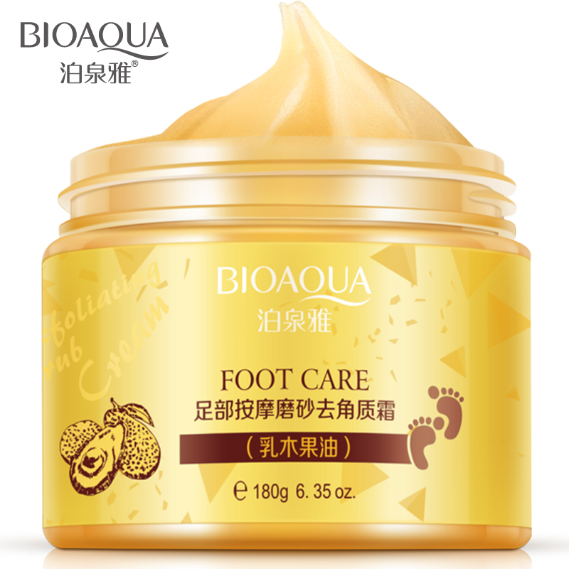 BIOAQUA Shea Butter Foot Cream Chinese Herbal foot scrub massage Cream Exfoliating Feet Cream Feet Care Dead Skin Removal Smooth bioaqua honey quintessence foot membrane 10pcs