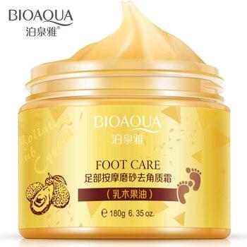 BIOAQUA Shea Butter Foot Cream Chinese Herbal foot scrub massage Cream Exfoliating Feet Cream Feet Care Dead Skin Removal Smooth bioaqua exfoliante para pies