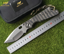 NIGHTHAWK New Customized MSC XL Copper Gasket Folding Knife S35VN Blade Flame Texture TC4 Titanium Handle Tactical Survival Tool
