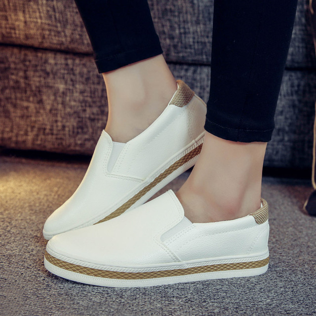 HZHICN 2016 Women Shoes New Spring/Autumn Casual Flat Shoes Platform Loafers Comfortable Slip-on Fashion round toe Shoes