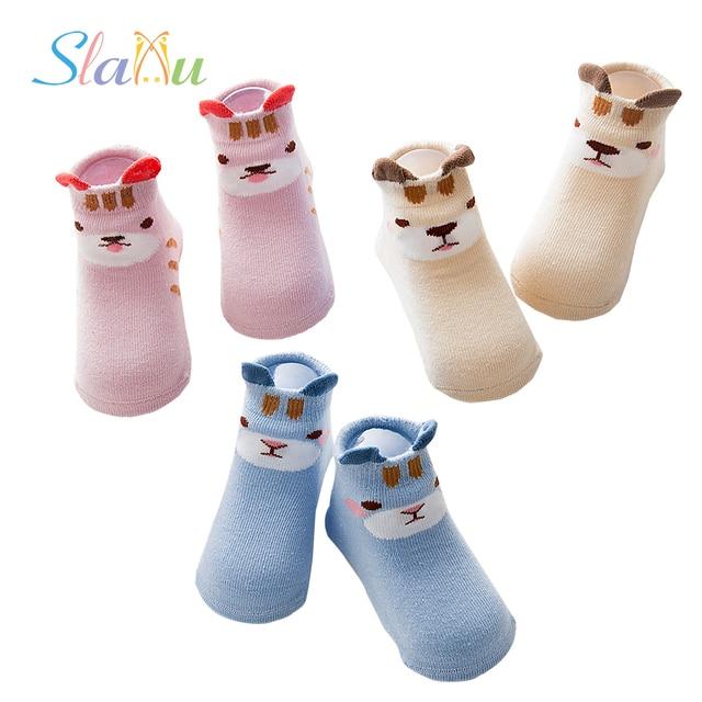 a0350deec 3-pack antideslizante recién nacidos bebé infantil Calcetines algodón  animal cumpleaños regalos niños Calcetines para