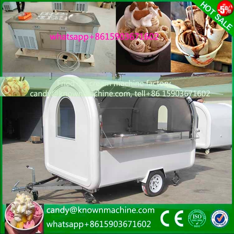 professional customized mobile food cart trailer with wheels for sale