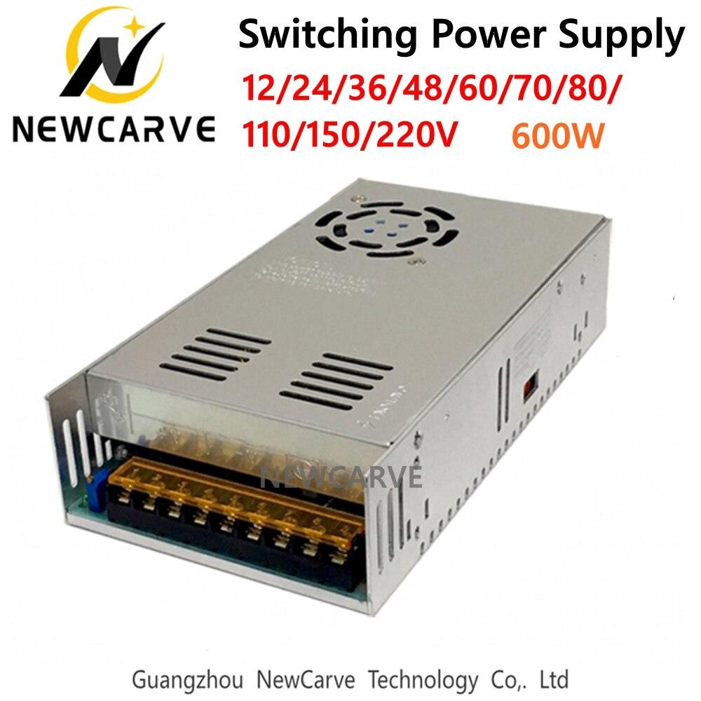 Alimentation à découpage 600W entrée AC 220V sortie DC 12V 24V 36V 48V 60V 70V 80V 110V 150V 220V V pour Machine de gravure à CNC