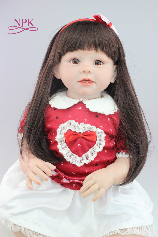 New Design 70cm Silicone Reborn Baby Dolls Boneca Reborn Realista Fashion Dolls For Princess Children Birthday