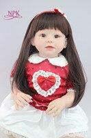 New Design 70cm Silicone Reborn Baby Dolls Boneca Reborn Realista Fashion Dolls For Princess Children Birthday Gift Bebes Reborn