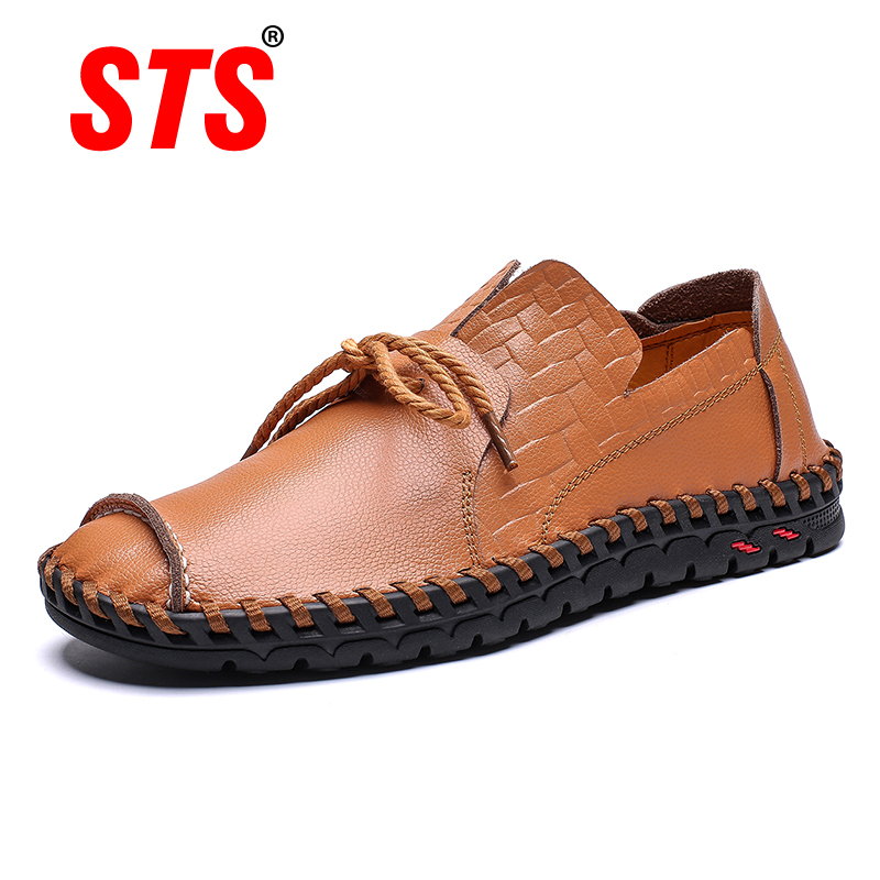 2019 New Design Shoes Women Handmade Leather Shoes Flats Women Lace Up Lofers Moccasins Lovers Casual Shoes Adult Footwear
