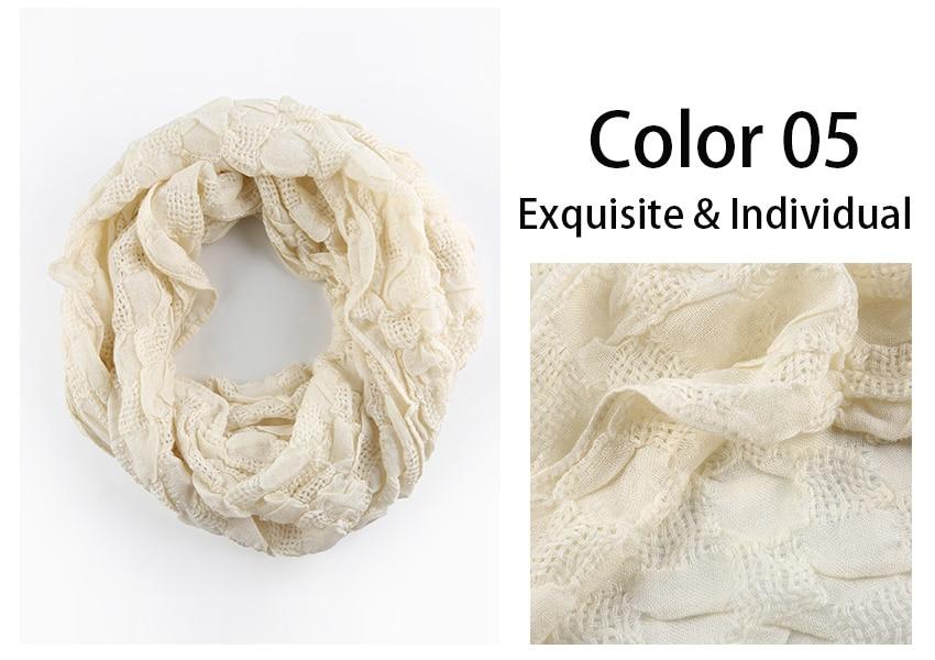 Bufanda de algodón de Invierno para mujer, bufanda de lana infinita ...